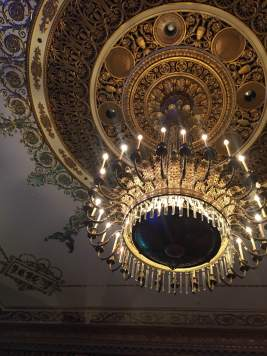 the chandelier above our table in the Empire Room