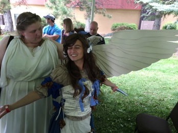 Belldandy (me) plus angel.