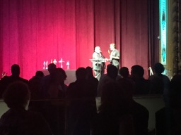 Alfie Award to Black Gate, John O'Neill accepting