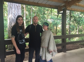with Einar Selvik of Wardruna & Jeff at Seidr workshop