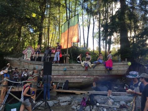 St. Cinder at Sh'BangFest pirate camp