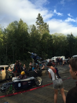 the Demon Bradley at the soapbox derby finish line
