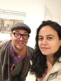 Chance meeting of the censorship exhibit curators, incl. one Cory Doctorow