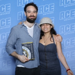 actor Charlie Cox & author Eva L. Elasigue