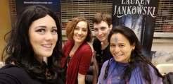 Rose Anderson cosplayer, Brianna Garcia artist, Lauren Jankowski author, Eva L. Elasigue author