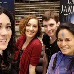 Rose Anderson cosplayer, Brianna Garcia artist, Lauren Jankowski author, Eva L. Elasigue author