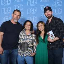 Josh Brolin, Eva L. Elasigue, Mandy Rivera, Chris Evans